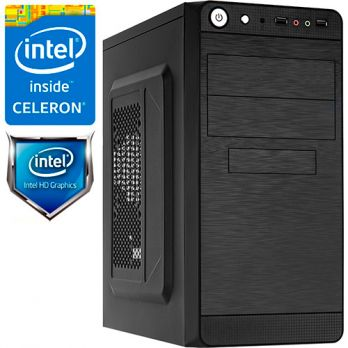 Компьютер PR-101046 Intel Celeron G3930 2900 МГц, Intel H110, 4Гб DDR4, без SSD, 500Гб, DVD-RW, Intel HD Graphics 610 (встроенная), 350Вт, Mini-Tower, без ОС
