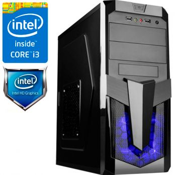 Компьютер PRO-260010 Intel Core i3-8100 3.6 ГГц, Intel Z370, 4 Гб DDR4 2133 МГц, без SSD, Intel UHD Graphics 630 (встроенная), 500 Вт, Midi-Tower, USB3.0/3.1