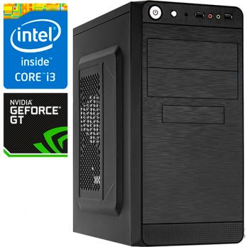 Компьютер PR 153337 Intel Core i3 7100 3900МГц, Intel H110, 8Гб DDR4, без SSD, 1000Гб, без DVD, NVIDIA GeForce GT1030 2048Мб, 450Вт, Mini-Tower, без ОС