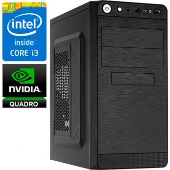 Графическая станция PRO-111337 Intel Core i3-8100 3600МГц / Intel H310 / 8Гб DDR4 2400МГц / SSD 120Гб / 1000Гб / без DVD-RW / NVIDIA Quadro P400 2048Мб / 450Вт / Mini-Tower / без ОС