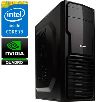 Графическая станция PRO-553566 Intel Core i3-7100 3.9ГГц, H110, 4Гб DDR4, без SSD, 500Гб, DVD-RW, NVIDIA Quadro P400 2048Мб, 500Вт, Mini-Tower, USB3.0