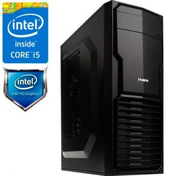 Компьютер PRO-174730 Intel Core i5-7400 3.0 ГГц, Intel B250, 4 Гб DDR4 2133 МГц, без SSD, Intel HD Graphics 630 (встроенная), 500 Вт, Mini-Tower, USB3.0