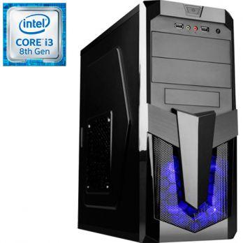 Компьютер PR-260009 Intel Core i3 8100 3600 МГц, Intel Z370, 4Гб DDR4 2400МГц, без SSD, DVD-RW, Intel UHD Graphics 630 (встроенная), 500Вт, Midi-Tower, без ОС