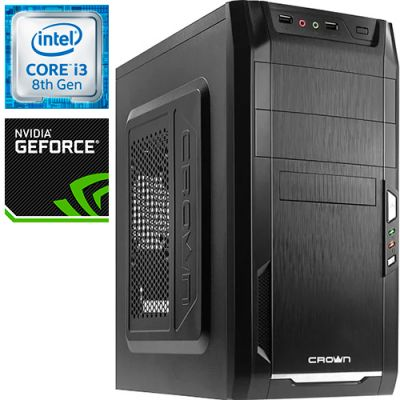 Компьютер PRO-768467 Intel Core i3-8100 3600МГц / Intel H310 / 8Гб DDR4 2400МГц / без SSD / 1000Гб / без DVD-RW / NVIDIA GeForce GTX 1050 2048Мб / 450Вт / Mini-Tower / без ОС