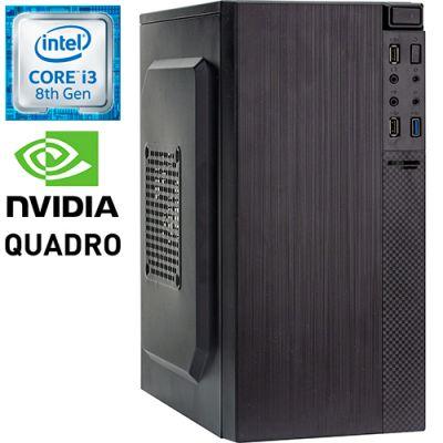 Графическая станция PRO-0111337 Intel Core i3-8100 3600МГц, Intel H310, 8Гб DDR4 2400МГц, SSD 120Гб, HDD 1Тб, NVIDIA Quadro P400 2Гб, 450Вт, Mini-Tower
