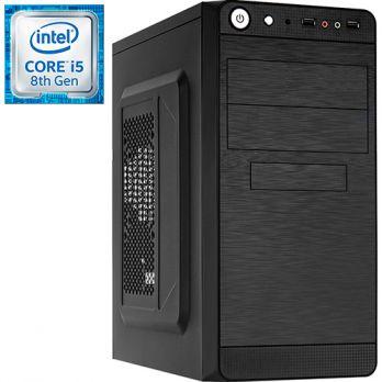 Компьютер PR-775667 Intel Core i5 8400 2800 МГц, Intel H310, 8Гб DDR4 2400МГц, без SSD, 1000Гб, без DVD-RW, Intel UHD Graphics 630 (встроенная), 450Вт, Mini-Tower, без ОС