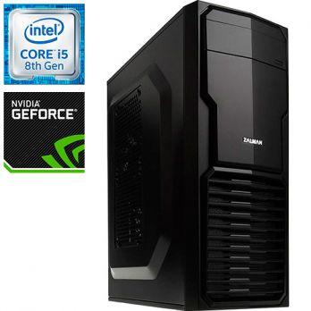 Компьютер PR-670277 Intel Core i5 8600K 3600 МГц, Intel B360, 16Гб DDR4 2400МГц, без SSD, 1000Гб, без DVD-RW, NVIDIA GeForce GT1030 2048Мб, 500Вт, Mini-Tower, без ОС