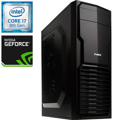 Компьютер PRO-673927 Intel Core i7-8700K 3700МГц / Intel B360 / 16Гб DDR4 2400МГц / SSD 120Гб / 1000Гб / без DVD-RW / NVIDIA GeForce GTX 1070 8192Мб / 600Вт / Mini-Tower / без ОС