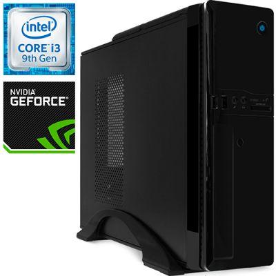 Компьютер PRO-0983287 Intel Core i3-9100F 3600МГц, Intel H310, 8Гб DDR4 2400МГц, SSD 120Гб, HDD 1Тб, NVIDIA GeForce GT 710 2Гб, 300Вт, Slim-Desktop