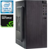 Компьютер PRO-0987720 Intel Core i3-9100 F 3600МГц, Intel H310, 4Гб DDR4 2400МГц, SSD 120Гб, NVIDIA GeForce GT 1030 2Гб, 450Вт, Mini-Tower...