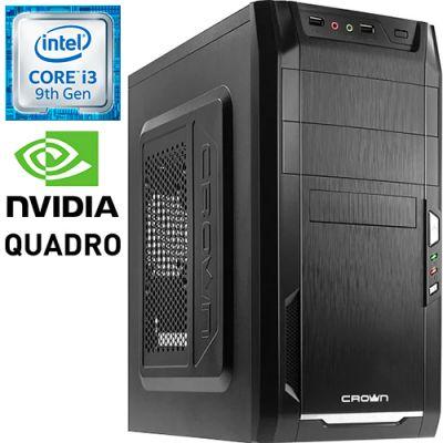 Графическая станция PRO-1003860 Intel Core i3-9100F 3600МГц / Intel H310 / 16Гб DDR4 2400МГц / SSD 240Гб / NVIDIA Quadro P400 2048Мб / 450Вт / Mini-Tower