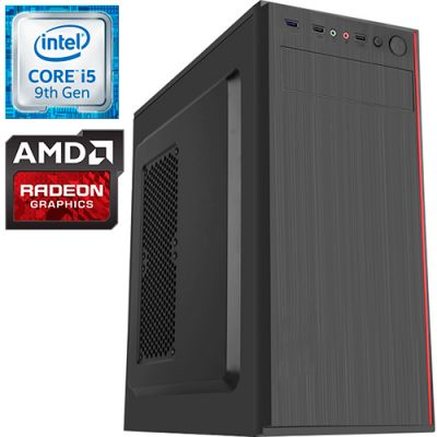 Компьютер PRO-0280497 Intel Core i5-9400F 2900МГц, Intel H310, 8Гб DDR4 2400МГц, SSD 240Гб, HDD 1Тб, AMD Radeon RX 570 4Гб, 500Вт, Midi-Tower