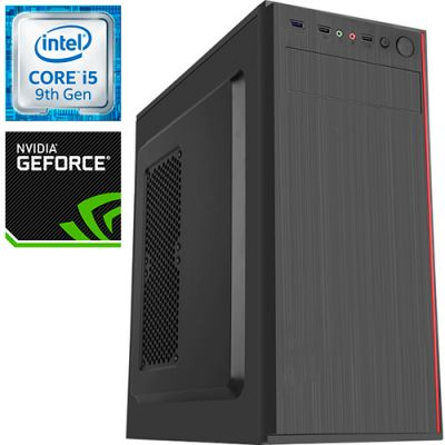 Компьютер PRO-1073687 Intel Core i5-9400F 2900МГц, Intel H310, 16Гб DDR4 2400МГц, SSD 240Гб, HDD 1Тб, NVIDIA GeForce GTX 1650 4Гб, 500Вт, Midi-Tower