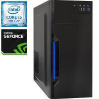 Компьютер PRO-1073687 Intel Core i5-9400F 2900МГц, Intel H310, 16Гб DDR4 2666МГц, SSD 240Гб, HDD 1Тб, NVIDIA GeForce GTX 1650 4Гб, 500Вт, Midi-Tower...