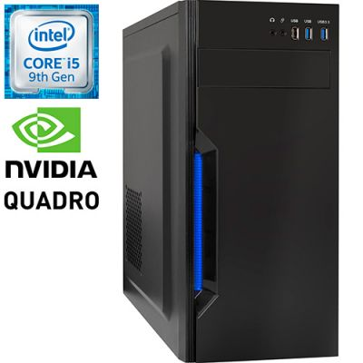 Рабочая станция PRO-0983287 Intel Core i5-9500F 3000МГц, Intel B365, 4Гб DDR4, NVIDIA Quadro P2200 5Гб, SSD 120Гб, HDD 4Тб, 500Вт, Midi-Tower
