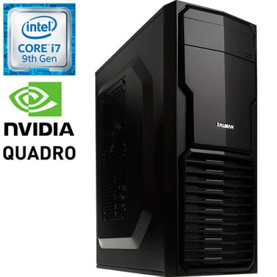 Графическая станция PRO-0324530 Intel Core i7-9700K 3600МГц / Intel B360 / 16Гб DDR4 2666МГц / SSD 480Гб / NVIDIA Quadro P400 2048Мб / 500Вт / Mini-Tower