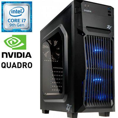Графическая станция PRO-0327534 Intel Core i7-9700K 3600МГц / Intel Z390 / 32Гб DDR4 2666МГц / SSD 480Гб / 2000Гб / NVIDIA Quadro P1000 4096Мб / 500Вт / Midi-Tower