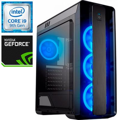 Компьютер PRO-0867517 Intel Core i9-9900KF 3600МГц, Intel Z390, 32Гб DDR4 2666МГц, SSD 480Гб, HDD 1Тб, NVIDIA GeForce RTX 2080 Ti 11Гб, 800Вт, Midi-Tower