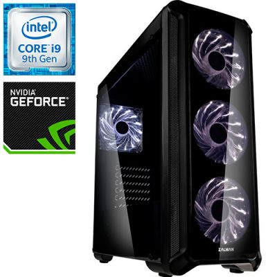 Компьютер PRO-0867522 Intel Core i9-9900KF 3600МГц, Intel Z390, 64Гб DDR4 2666МГц, SSD 480Гб, HDD 3Тб, NVIDIA GeForce RTX 2080 Ti 11Гб, 800Вт, Midi-Tower