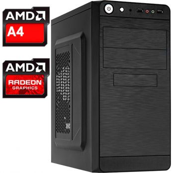 Компьютер PRO-291225 AMD A4-6300 3.7 ГГц, AMD A68H, 8 Гб DDR3 1600 МГц, без SSD, 1000 Гб, DVD-RW, AMD Radeon HD 8370D (встроенная), 450 Вт, Mini-Tower, USB3.0