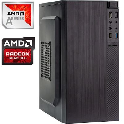 Компьютер PRO-0134487 AMD A8-9600 3100МГц, AMD A320, 4Гб DDR4 2400МГц, HDD 1Тб, AMD Radeon R7 Graphics (встроенная), 450Вт, Mini-Tower