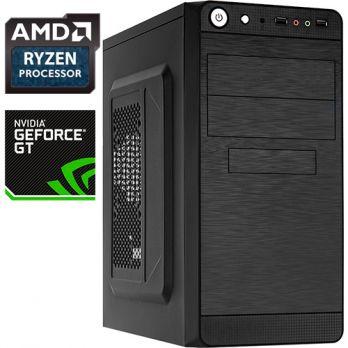 Компьютер PR 310670 AMD Ryzen 3 1300X 3500МГц, AMD A320, 8Гб DDR4, SSD 120Гб, без DVD, NVIDIA GeForce GT 1030 2048Мб, 450Вт, Mini-Tower, без ОС