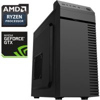 Компьютер PRO-309227 AMD Ryzen 3 1300X 3.5 ГГц, AMD A320, 16 Гб DDR4 2133 МГц, без SSD, 1000 Гб, NVIDIA GeForce GTX 1050 2048...
