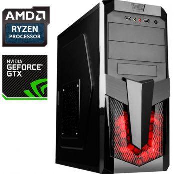 Компьютер PR 504617 AMD Ryzen 5 1400 3200МГц, AMD A320, 8Гб DDR4, без SSD, 1000Гб, без DVD, NVIDIA GeForce GTX 1050 Ti 4096Мб, 500Вт, Midi-Tower, без ОС