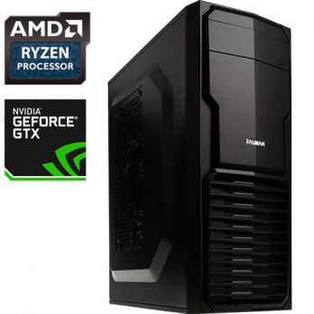 Компьютер PRO-470477 AMD Ryzen 5 1600 3.2 ГГц, AMD B350, 16 Гб DDR4 2133 МГц, SSD 120 Гб, 1000 Гб, NVIDIA GeForce GTX 1060 6144 Мб, 500 Вт, Mini-Tower, USB3.0