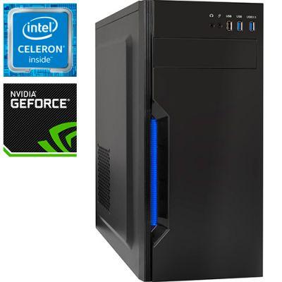 Компьютер PRO-0303287 Intel Celeron G5905 3500МГц, Intel H410, 8Гб DDR4, NVIDIA GeForce GTX 1650 4Гб, SSD 240Гб, 500Вт, Midi-Tower