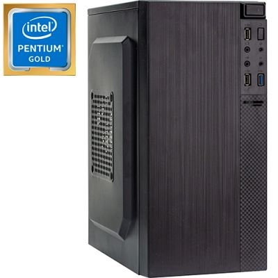 Компьютер PRO-0588818 Intel Pentium Gold G5400 3700МГц, Intel H310, 4Гб DDR4 2400МГц, HDD 500Гб, Intel UHD Graphics 610 (встроенная), 450Вт, Mini-Tower