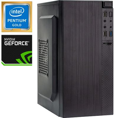 Компьютер PRO-1374110 Intel Pentium Gold G5420 3800МГц, Intel H310, 4Гб DDR4 2400МГц, SSD 120Гб, NVIDIA GeForce GT 1030 2Гб, 450Вт, Mini-Tower