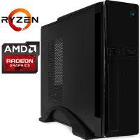 Компьютер PRO-1264640 AMD Ryzen 5 3400G 3700МГц, AMD B450, 16Гб DDR4 2666МГц, SSD 480Гб, AMD Radeon Vega 11 (встроенная), 300Вт, Slim-Desktop...