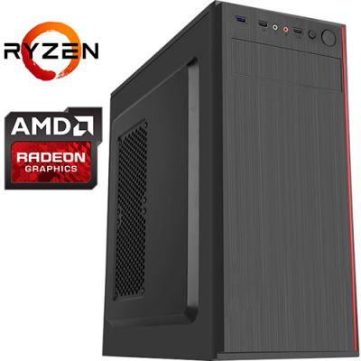 Компьютер PRO-0364727 AMD Ryzen 5 2600X 3600МГц, AMD A320, 16Гб DDR4 2400МГц, SSD 240Гб, HDD 1Тб, AMD Radeon RX 5500 XT 8Гб, 600Вт, Midi-Tower