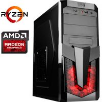 Компьютер PRO-364727 AMD Ryzen 5 2600X 3600МГц / AMD A320 / 16Гб DDR4 2400МГц / SSD 240Гб / 1000Гб / без DVD-RW / AMD Radeon RX 590 8192Мб / 700Вт / Midi-Tower / без ОС...