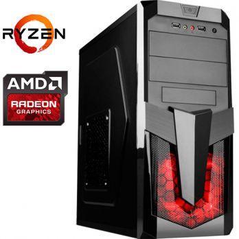 Компьютер PRO-364727 AMD Ryzen 5 2600X 3600МГц / AMD A320 / 16Гб DDR4 2400МГц / SSD 240Гб / 1000Гб / без DVD-RW / AMD Radeon RX 590 8192Мб / 700Вт / Midi-Tower / без ОС