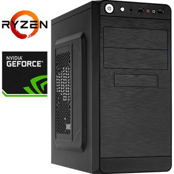 Компьютер PR-309227 AMD Ryzen 3 1300X 3500 МГц, AMD A320, 16Гб DDR4 2400МГц, без SSD, 1000Гб, без DVD-RW, NVIDIA GeForce GTX1050 2048Мб, 450Вт, Mini-Tower, без ОС