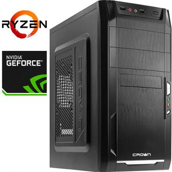 Компьютер PRO-310670 AMD Ryzen 3 1300X 3500МГц / AMD A320 / 8Гб DDR4 2400МГц / SSD 120Гб / без HDD / без DVD-RW / NVIDIA GeForce GT 1030 2048Мб / 450Вт / Mini-Tower / без ОС