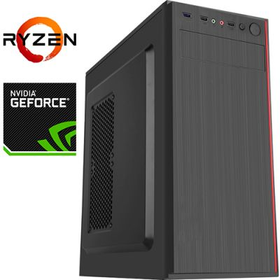 Компьютер PRO-1800837 AMD Ryzen 5 3500X 3600МГц, AMD A320, 16Гб DDR4 2666МГц, SSD 240Гб, HDD 1Тб, NVIDIA GeForce GTX 1660 SUPER 6Гб, 500Вт, Midi-Tower
