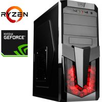 Компьютер PRO-898697 AMD Ryzen 5 2500X 3600МГц / AMD A320 / 16Гб DDR4 2400МГц / без SSD / 1000Гб / без DVD-RW / NVIDIA GeForce RTX 2060 6144Мб / 600Вт / Midi-Tower / бе...