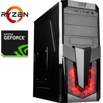 Компьютер PRO-1143737 AMD Ryzen 5 3600 3600МГц / AMD A320 / 16Гб DDR4 2666МГц / SSD 120Гб / 1000Гб / без DVD-RW / NVIDIA GeForce GTX 1650 4096Мб / 500Вт / Midi-Tower / без ОС
