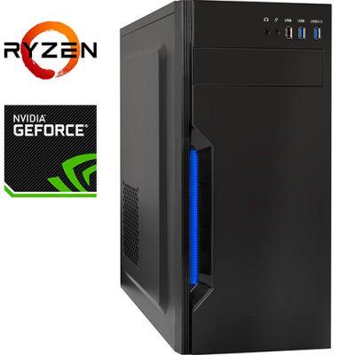 Компьютер PRO-1143737 AMD Ryzen 5 3600 3600МГц, AMD A320, 16Гб DDR4 2666МГц, SSD 120Гб, HDD 1Тб, NVIDIA GeForce GTX 1650 4Гб, 500Вт, Midi-Tower