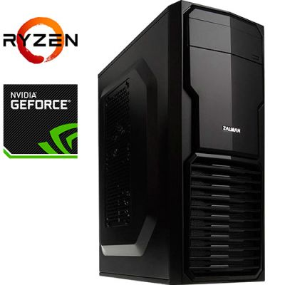 Компьютер PRO-1586579 AMD Ryzen 5 3600X 3800МГц, AMD B450, 32Гб DDR4 2666МГц, SSD 480Гб, HDD 2Тб, NVIDIA GeForce RTX 2070 SUPER 8Гб, 700Вт, Mini-Tower