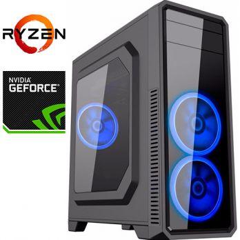 Компьютер PR-406934 AMD Ryzen 7 1800X 3600 МГц, AMD X370, 32Гб DDR4 2400МГц, SSD 240Гб, 2000Гб, без DVD-RW, NVIDIA GeForce GTX1080Ti 11264Мб, 750Вт, Midi-Tower, без ОС